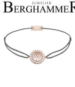 Filo Armband Textil Anthrazit Shine 925 Silber roségold vergoldet 21204573