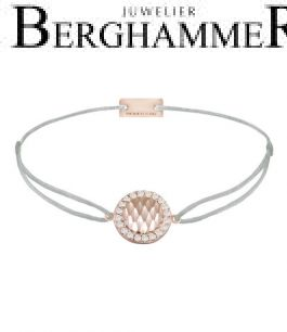 Filo Armband Textil Hellgrau Shine 925 Silber roségold vergoldet 21204574