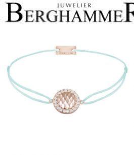 Filo Armband Textil Mint Shine 925 Silber roségold vergoldet 21204575