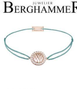 Filo Armband Textil Türkis Shine 925 Silber roségold vergoldet 21204576