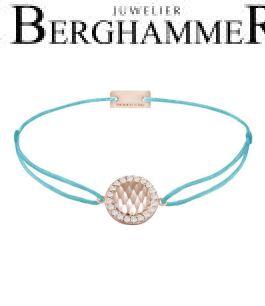 Filo Armband Textil Hellblau Shine 925 Silber roségold vergoldet 21204577