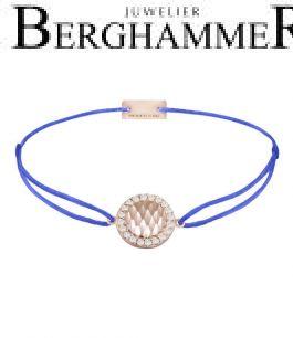 Filo Armband Textil Blitzblau Shine 925 Silber roségold vergoldet 21204578