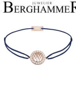 Filo Armband Textil Dunkelblau Shine 925 Silber roségold vergoldet 21204579