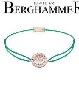 Filo Armband Textil Grasgrün Shine 925 Silber roségold vergoldet 21204581