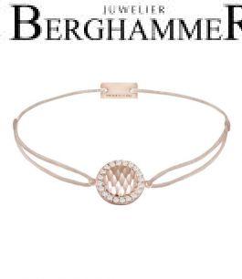 Filo Armband Textil Hellrosa Shine 925 Silber roségold vergoldet 21204583