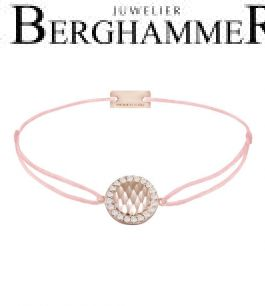 Filo Armband Textil Fuchsia Shine 925 Silber roségold vergoldet 21204585