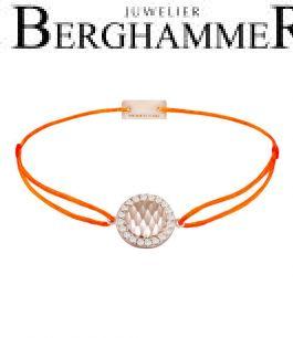 Filo Armband Textil Neon-Orange Shine 925 Silber roségold vergoldet 21204587