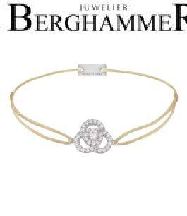 Filo Armband Textil Champagne Blume 925 Silber rhodiniert 21204590