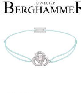 Filo Armband Textil Mint Blume 925 Silber rhodiniert 21204599