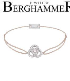 Filo Armband Textil Hellrosa Blume 925 Silber rhodiniert 21204607