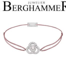 Filo Armband Textil Camel Blume 925 Silber rhodiniert 21204608