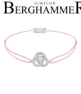 Filo Armband Textil Fuchsia Blume 925 Silber rhodiniert 21204609