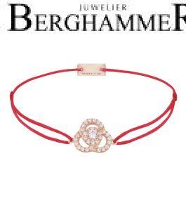Filo Armband Textil Rot Blume 925 Silber roségold vergoldet 21204612