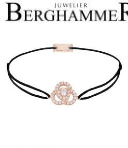 Filo Armband Textil Schwarz Blume 925 Silber roségold vergoldet 21204613