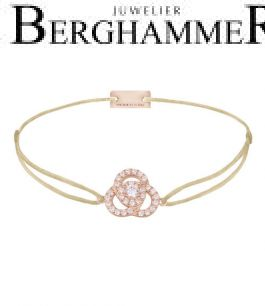 Filo Armband Textil Champagne Blume 925 Silber roségold vergoldet 21204614