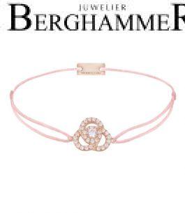 Filo Armband Textil Rosa Blume 925 Silber roségold vergoldet 21204615