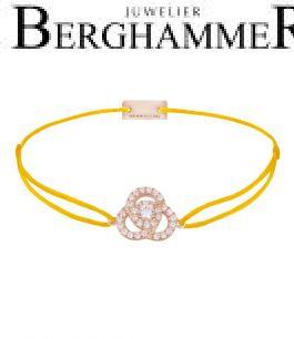 Filo Armband Textil Gelb Blume 925 Silber roségold vergoldet 21204617