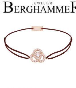 Filo Armband Textil Braun Blume 925 Silber roségold vergoldet 21204619