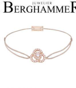 Filo Armband Textil Hellrosa Blume 925 Silber roségold vergoldet 21204631