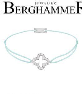 Filo Armband Textil Mint Cloverleaf 925 Silber rhodiniert 21204649