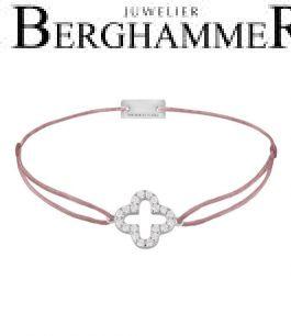 Filo Armband Textil Camel Cloverleaf 925 Silber rhodiniert 21204658