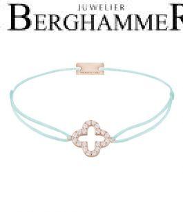 Filo Armband Textil Mint Cloverleaf 925 Silber roségold vergoldet 21204673
