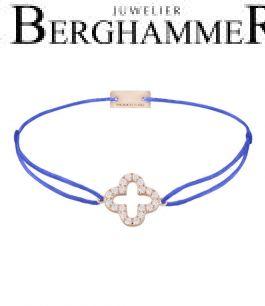 Filo Armband Textil Blitzblau Cloverleaf 925 Silber roségold vergoldet 21204676