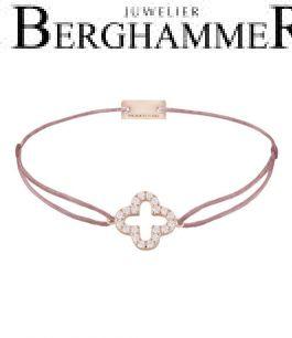 Filo Armband Textil Camel Cloverleaf 925 Silber roségold vergoldet 21204682