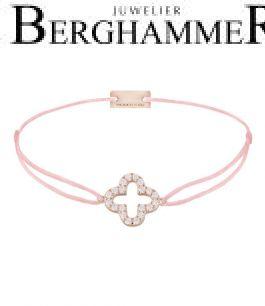 Filo Armband Textil Fuchsia Cloverleaf 925 Silber roségold vergoldet 21204683