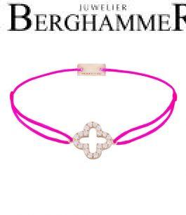 Filo Armband Textil Neon-Pink Cloverleaf 925 Silber roségold vergoldet 21204684