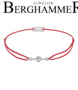 Filo Armband Textil Rot Fashion 925 Silber rhodiniert 21204686