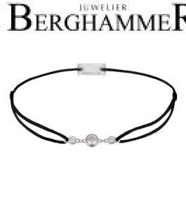 Filo Armband Textil Schwarz Fashion 925 Silber rhodiniert 21204687