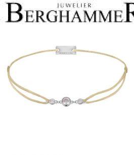Filo Armband Textil Champagne Fashion 925 Silber rhodiniert 21204688