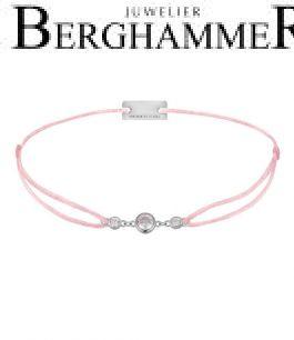 Filo Armband Textil Rosa Fashion 925 Silber rhodiniert 21204689
