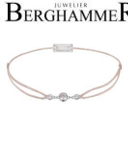 Filo Armband Textil Beige Fashion 925 Silber rhodiniert 21204692