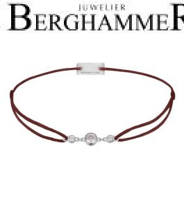 Filo Armband Textil Braun Fashion 925 Silber rhodiniert 21204693