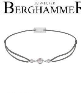 Filo Armband Textil Anthrazit Fashion 925 Silber rhodiniert 21204695