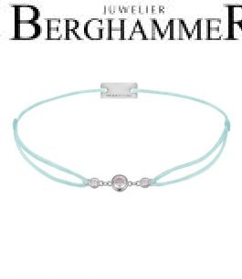 Filo Armband Textil Mint Fashion 925 Silber rhodiniert 21204697