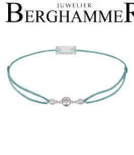 Filo Armband Textil Türkis Fashion 925 Silber rhodiniert 21204698