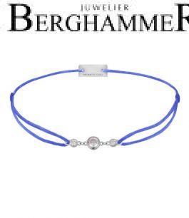 Filo Armband Textil Blitzblau Fashion 925 Silber rhodiniert 21204700