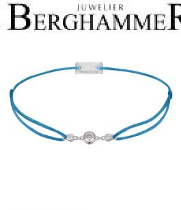 Filo Armband Textil Petrol Fashion 925 Silber rhodiniert 21204702