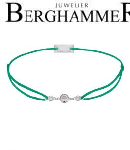 Filo Armband Textil Grasgrün Fashion 925 Silber rhodiniert 21204703