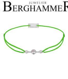 Filo Armband Textil Neon-Grün Fashion 925 Silber rhodiniert 21204704
