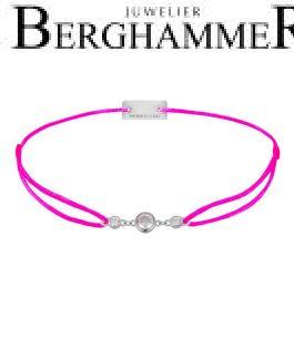 Filo Armband Textil Neon-Pink Fashion 925 Silber rhodiniert 21204708