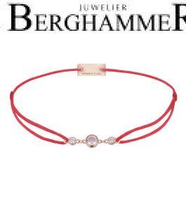 Filo Armband Textil Rot Fashion 925 Silber roségold vergoldet 21204710