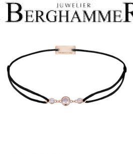 Filo Armband Textil Schwarz Fashion 925 Silber roségold vergoldet 21204711