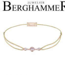 Filo Armband Textil Champagne Fashion 925 Silber roségold vergoldet 21204712
