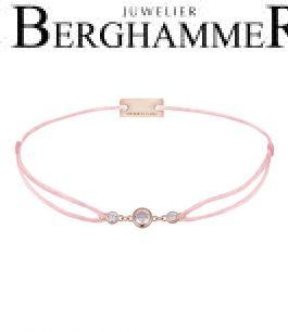 Filo Armband Textil Rosa Fashion 925 Silber roségold vergoldet 21204713