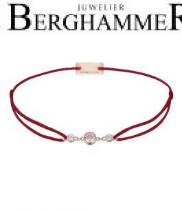 Filo Armband Textil Weinrot Fashion 925 Silber roségold vergoldet 21204714