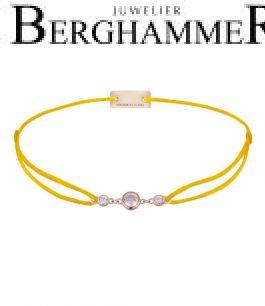 Filo Armband Textil Gelb Fashion 925 Silber roségold vergoldet 21204715